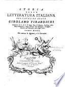 Storia della letteratura italiana dell' abate Girolamo Tiraboschi,... Tomo primo [ - Tomo decimo]