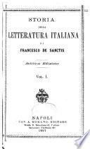 Storia della letteratura italiana di Francesco de Sanctis