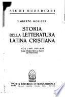 Storia della letteratura latina cristiana