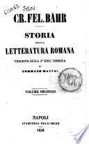 Storia della letteratura romana Cr. Fel. Bahr