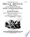 Storia della Musica, da Fr. Giambattista Martini,...