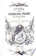 Storia delle repubbliche italiane dei secoli di mezzo