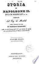 Storia di Napoleone 2. duca di Reichstadt compilata dal Sig. di Montbel