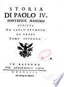 Storia di Paolo IV pontefice massimo