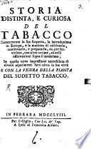 Storia distinta e curiosa del Tabacco