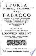 Storia distinta e curisoa del tabacco