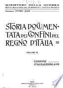 Storia documentata dei confini del regno d'Italia