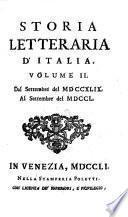 Storia Letteraria D'Italia