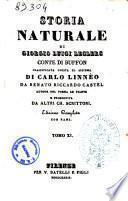 Storia naturale di Giorgio Luigi Leclerc conte di Buffon