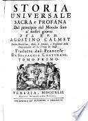 Storia Universale sacra e profana, dal principio del mondo fino à nostri giorni