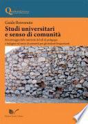 Studi universitari e senso di comunità