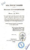 Sul fiume Sarno discorso storico-idraulico per Vincenzo Degli Uberti