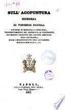 Sull'agopuntura memoria di Vincenzo Coppola