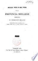 Sulle viti e sui vini della provincia biellese