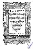 Tariffa de i pesi e misure corrispondenti dal levante al ponente e da una terra e luogo all'altro (etc.)- Vinetia, (Pietro Nicolini da Sabbio) 1540