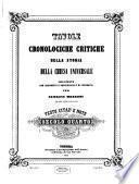 Tavole cronologiche critiche della storia della chiesa universale