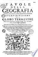 Tavole della geografia antica, moderna...opera cominciata da' signori Samson [sic]