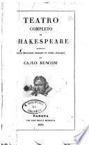 Teatro completo di Shakespeare