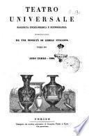 Teatro universale raccolta enciclopedica e scenografica