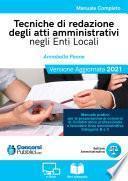 Tecniche di redazione degli atti amministrativi negli Enti Locali