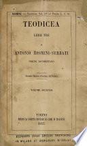 Teodicea, libri tre ... Seconda edizione ritoccata dall'autore