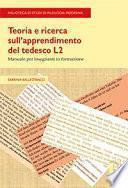 Teoria e ricerca sull'apprendimento del tedesco L2
