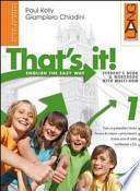That's it! Student's book-Workbook. Con espansione online. Ediz. leggera. Per la Scuola media. Con Multi-ROM