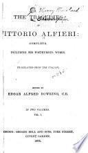 The Tragedies of Vittorio Alfieri