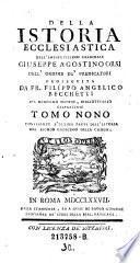 Tomo Nono continente l'Ultima Parte dell'Istoria del Secolo Undecimo della Chiesa
