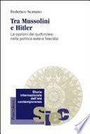 Tra Mussolini e Hitler