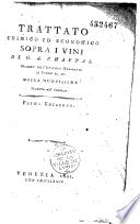 Trattato chimico ed economico sopra i vini di G. A. Chaptal,... opera nuovossima tradotta dal francese prima edizione