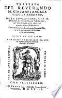 Trattato de la emulatione, che il demonio ha fatta a Dio, ne l'adoratione, ne'sacrificii & ne le altre cose appartenenti alla divinità