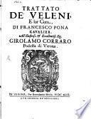 Trattato de'Veleni e lor cura
