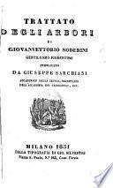 Trattato degli Arbori ... pubblicato da G. Sarchiani