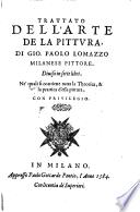 Trattato del l'arte de la pittura di Gio. Paolo Lomazzo