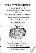 Trattenimenti accademici sugli spettacoli del Circo massimo di Roma
