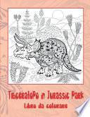 Triceratopo in Jurassic park - Libro da colorare