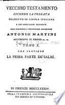 Vecchio Testamento secondo la Volgata tradotto in lingua italiana
