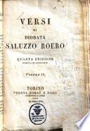 Versi di Diodata Saluzzo Roero