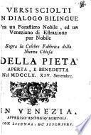 Versi sciolti in dialogo bilingue fra un forastiero nobile