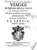 Viaggi di Pietro Della Valle Il Pellegrino