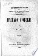 Vincenzo Gioberti galleria nazionale del secolo 19 per V. G