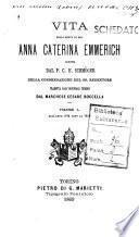 Vita della serva di Dio Anna Caterina Emmerich