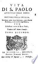 Vita Di S. Paolo Apostolo Delle Genti E Dottore Della Chiesa