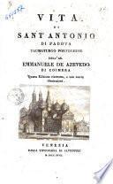 Vita di Sant' Antonio di Padova Taumaturgo Portoghese