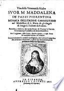 Vita di Suor Maria Maddalena de'Pazzi