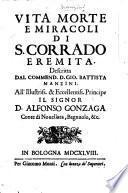 Vita, morte e miracoli di S. Corrado Eremita