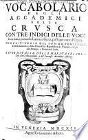 Vocabolario degli Academici della Crusca