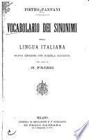 Vocabolario dei sinonimi della lingua italiana