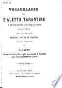 Vocabolario del dialetto tarantino
